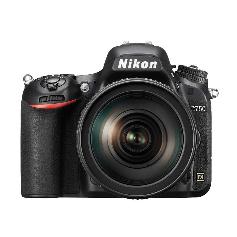 Nikon D750 Kit 24-120mm VR Kamera DSLR - Black + Free LCD Screen Guard