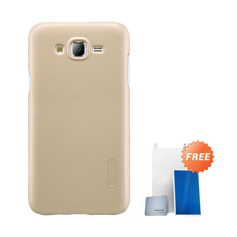 Nillkin Super Frosted Shield Casing  For Samsung Galaxy J5 - Gold + Free Nilkin Screen Protector