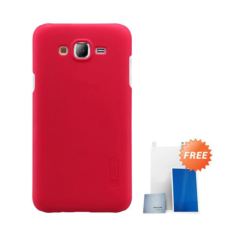 Nillkin Super Frosted Shield Casing  For Samsung Galaxy J5 - Red + Free Nilkin Screen Protector
