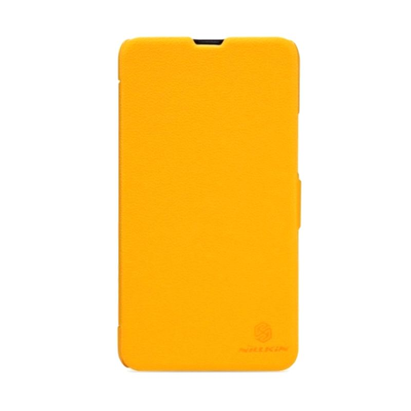 Nillkin Fresh Leather Kuning Flip Cover for Nokia Lumia 1520