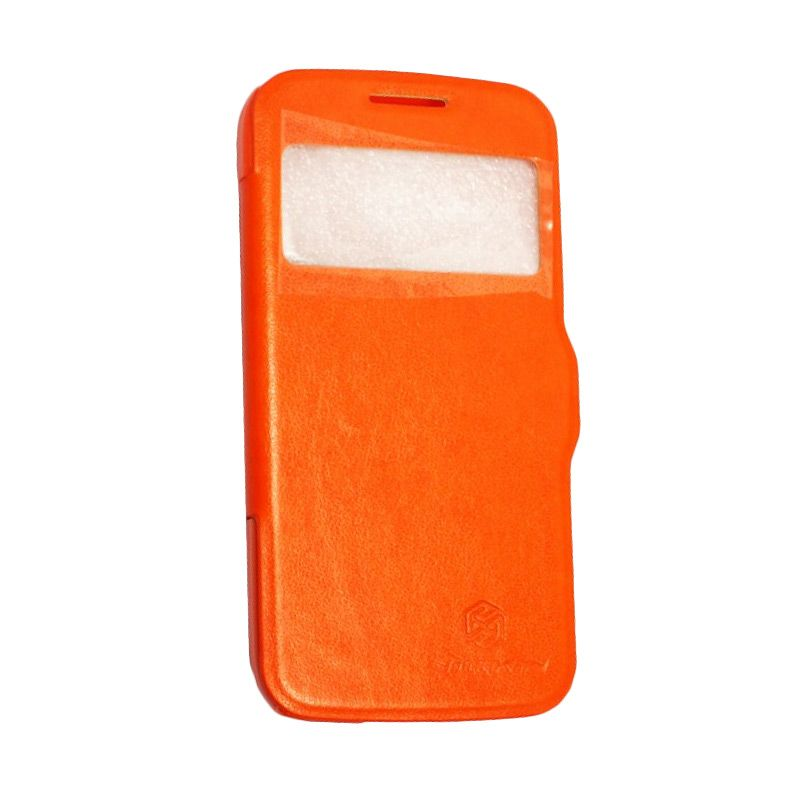 Nillkin Fresh Leather Orange Casing for Samsung S4 Mini