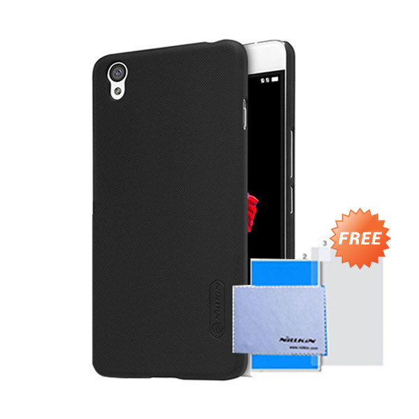 harga Nillkin Frosted Hardcase Casing for Oneplus X - Black + Free Screen Protector Blibli.com