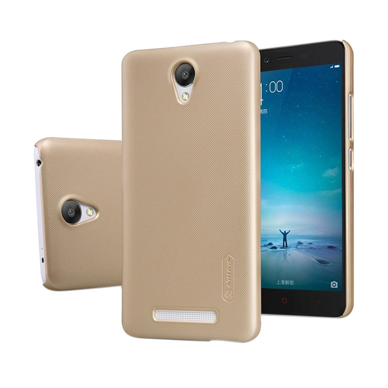 Nillkin Frosted Shield Hardcase Casing for Xiaomi Redmi Note 2 - Gold