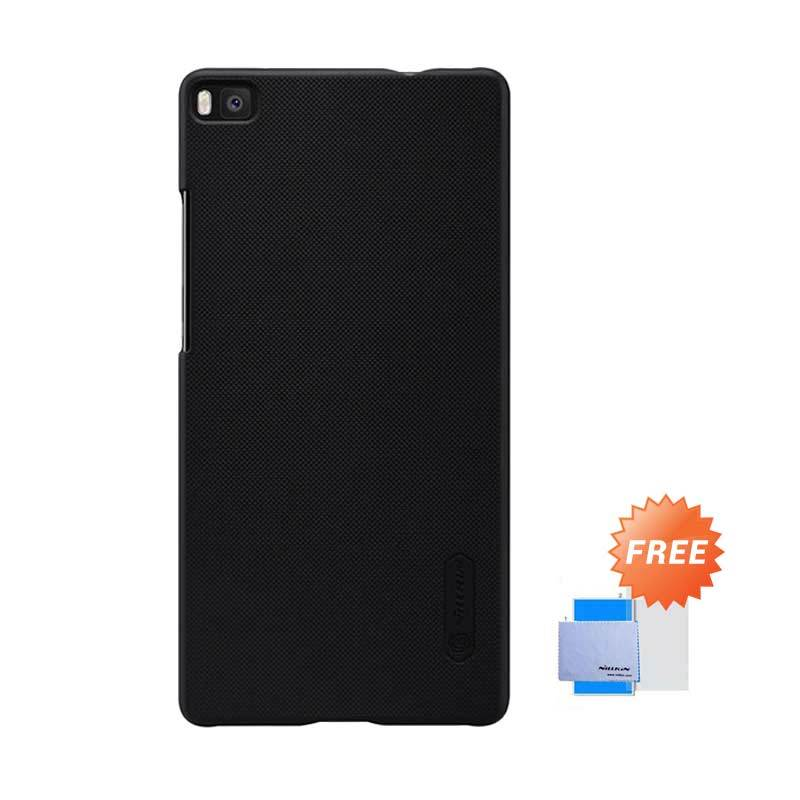 Nillkin Frosted Shield Hardcase Hitam Casing for Huawei Ascend P8 + Screen Guard
