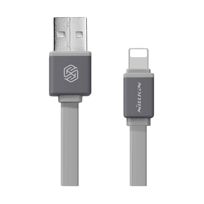 harga Nillkin Grey Mini Cable Sync and Charge Lightning for iPhone iPad [30 cm] Blibli.com