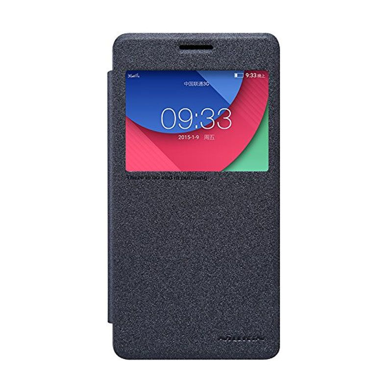 NILLKIN Sparkle Leather Black Casing For Lenovo Vibe P1