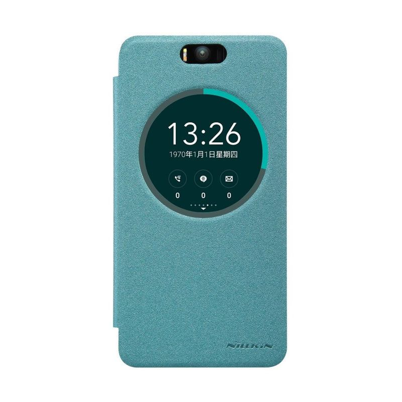 Nillkin Sparkle Leather Blue Casing for Asus Zenfone Selfie ZD551KL