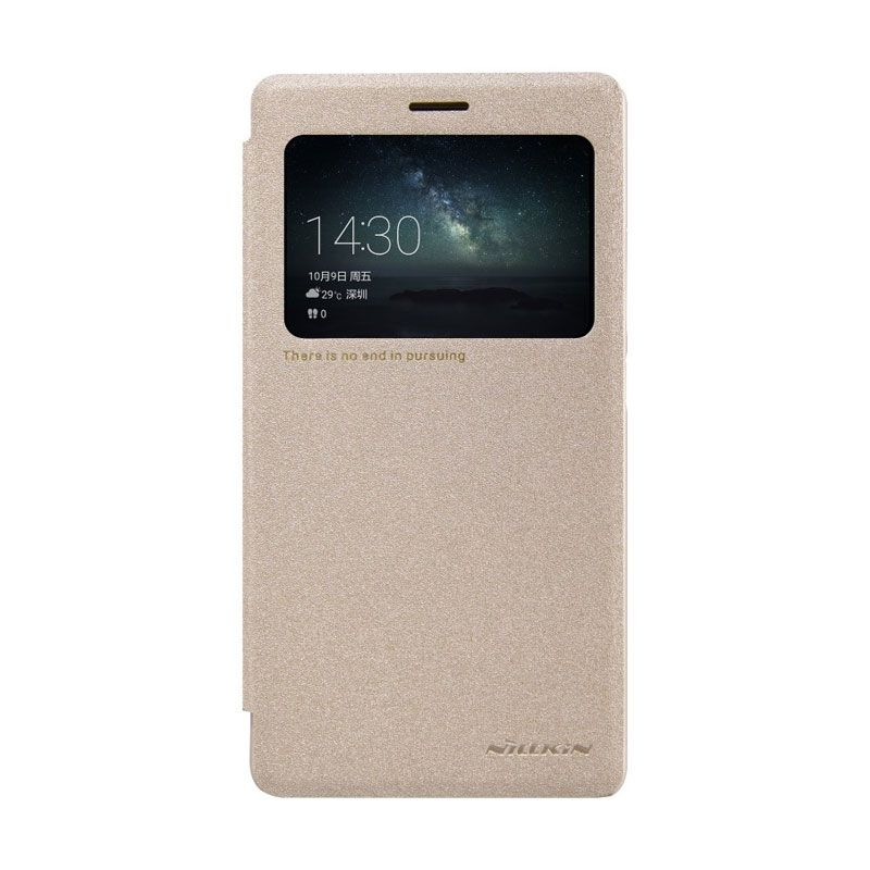 Nillkin Sparkle Leather Gold Case For Huawei Mate S