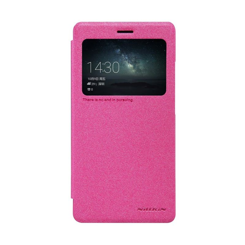 Nillkin Sparkle Leather Pink Casing for Huawei Mate S