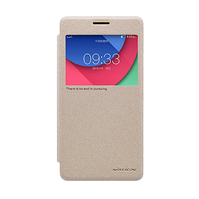 Nillkin Sparkle Leather Gold Casing for Lenovo Vibe P1