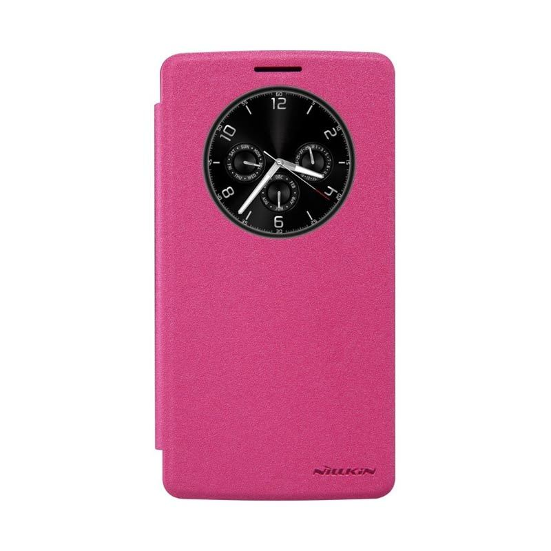 Nillkin Sparkle Leather Pink Casing for LG G4 Stylus or G Stylo