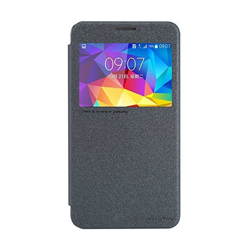 NILLKIN Sparkle Leather Black Casing for Samsung Galaxy Mega 2 G7508
