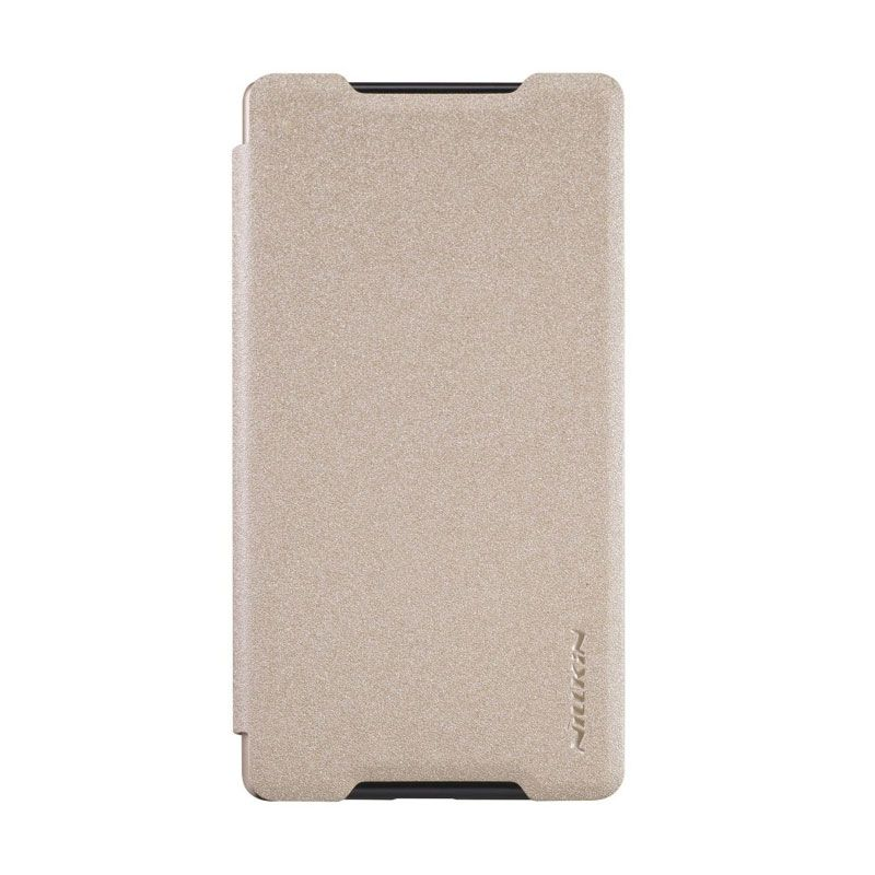 Nillkin Sparkle Leather Gold Casing for Sony Xperia Z5 Compact