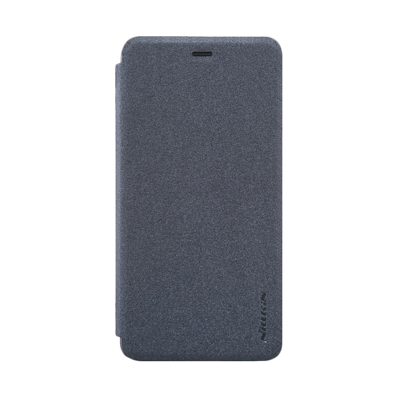 harga Nillkin Sparkle Leather Flip Cover Casing for Oneplus X - Black Blibli.com