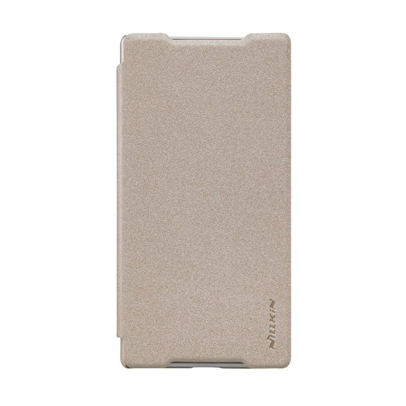 Nillkin Sparkle Leather Gold Casing for Sony Xperia Z5