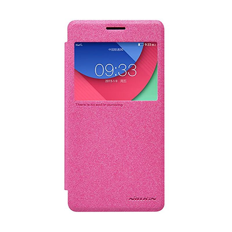Nillkin Sparkle Leather Pink Casing for Lenovo Vibe P1