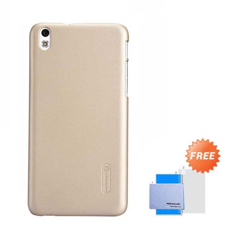 Nillkin Super Frosted Shield Gold Casing for HTC Desire 816 + Anti Gores