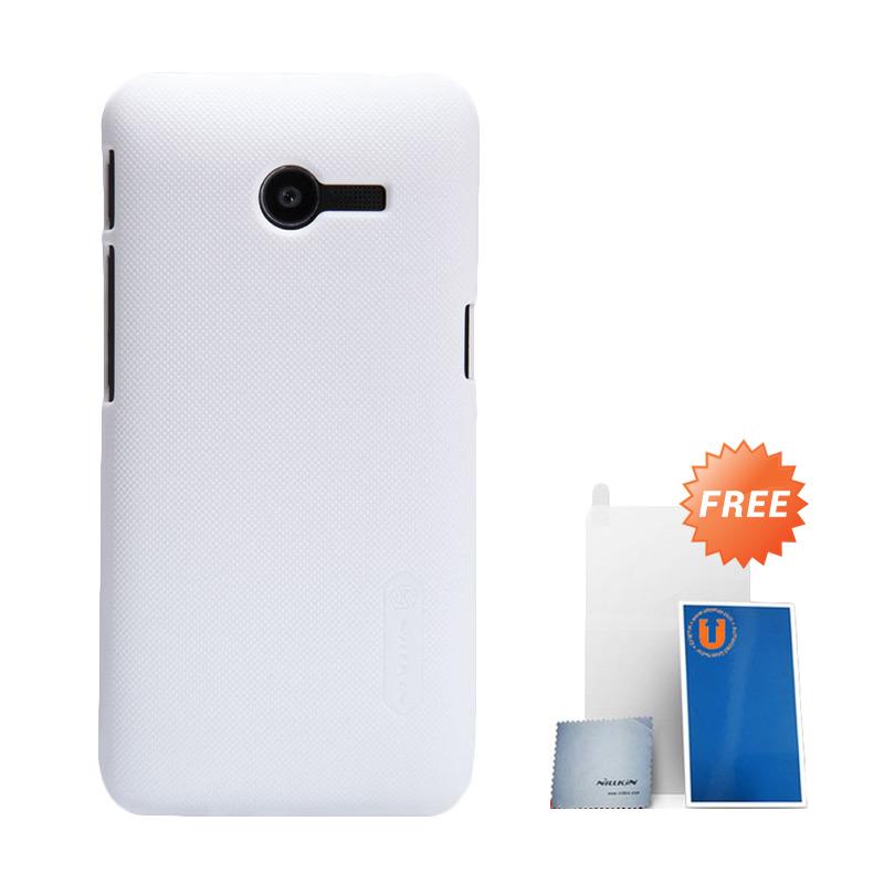 harga Nillkin Super Frosted Shield Hardcase Casing for Asus Zenfone 4 1600 mAh - White + Free Screen Protector Blibli.com