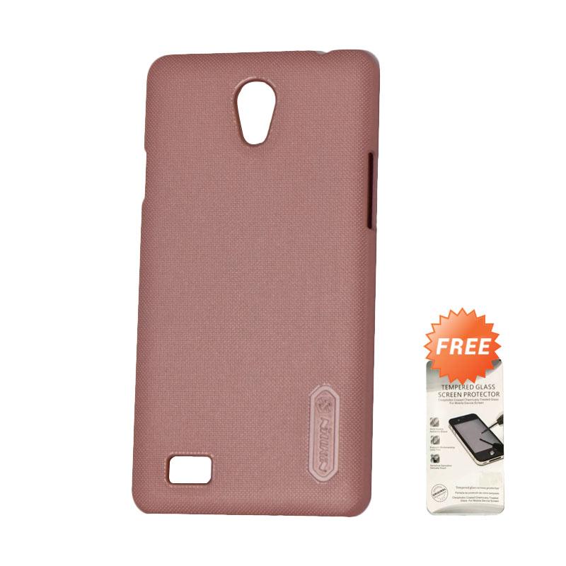 Kelebihan Kekurangan Nillkin Super Frosted Shield Hardcase Casing for OPPO Joy 3 - Pink + Free