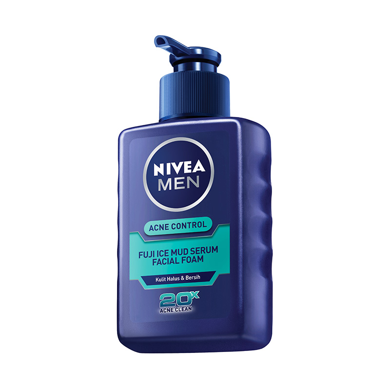 Nivea Men Acne Control Fuji Ice Mud Serum Facial Foam [120 mL]