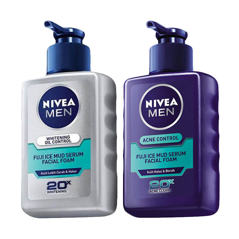 Redeem So March Fun - Nivea Men Fuji Ice Mud Series Oil Control Facial Foam 120 mL & Acne Control Serum Facial Foam 120 mL