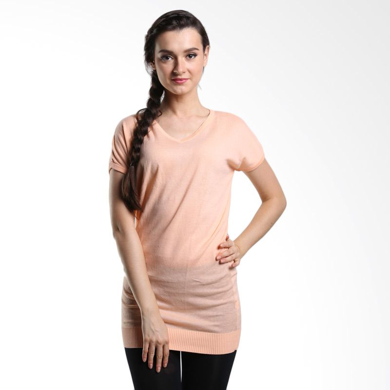 Noir Sur Blanc All Dress It Salmon Atasan Wanita