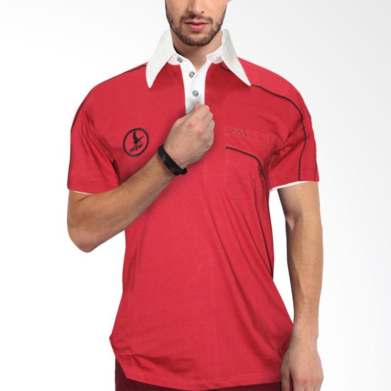 harga Nope USA Made Kaos Distro MP 001 Merah Tua Polo Shirt Blibli.com