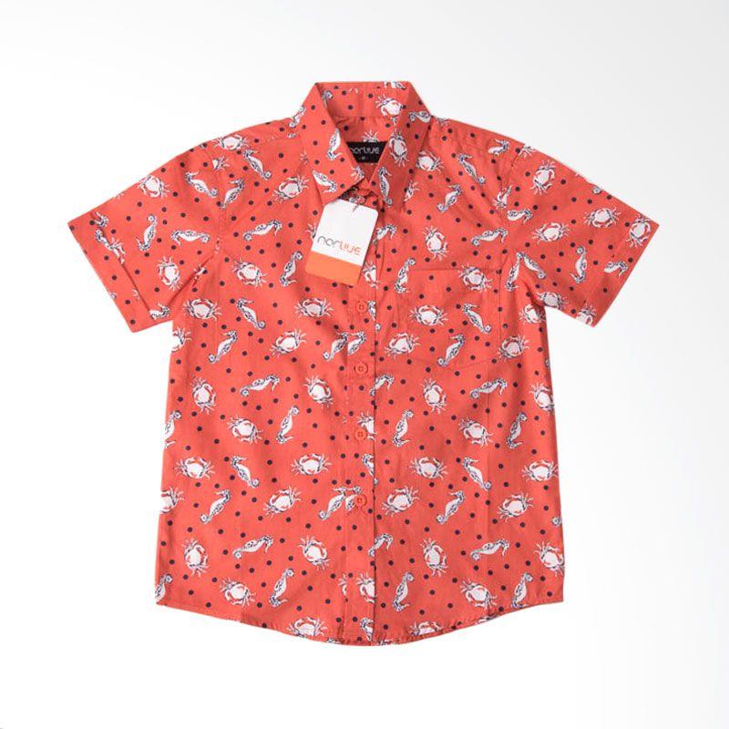 Norlive Crab Shirt Kids Orange Atasan Anak Laki-laki