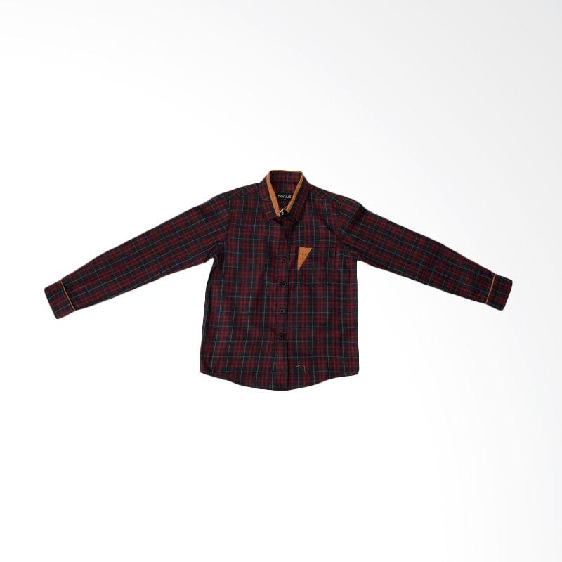 Norlive Red Line Shirt Kids Kemeja Anak Laki-Laki
