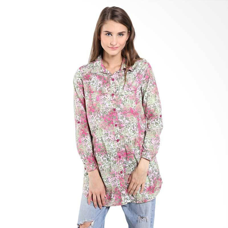 Novel Mice Floral Cotton Blouse LB 7072662 06.15.03-07 Floral Atasan Wanita