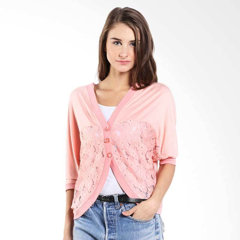 Novel Mice Knit Batwing Salem-6015691 06.15.00 Free Size Pink Cardigan