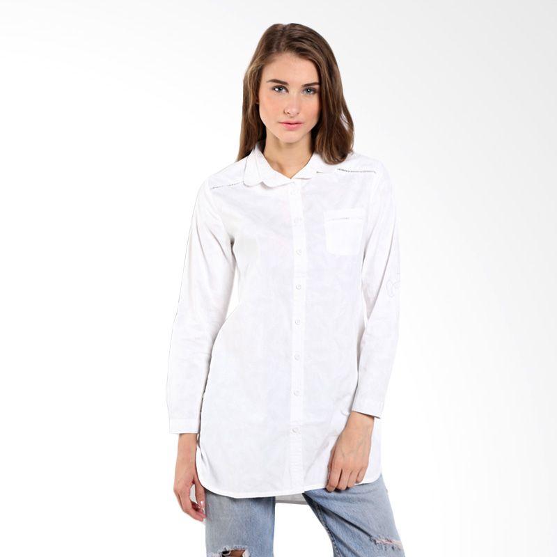 Novel Mice Long-7082662 08.15.02-06 White Shirt Atasan Wanita