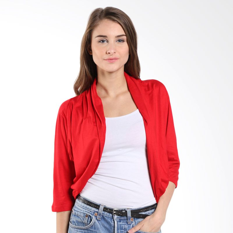 Novel Mice Red 6023142 12.14.08-10 Red Bolero Cardigan