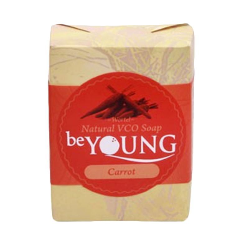 be Young Natural VCO Soap Carrot Sabun Wajah [100 g]