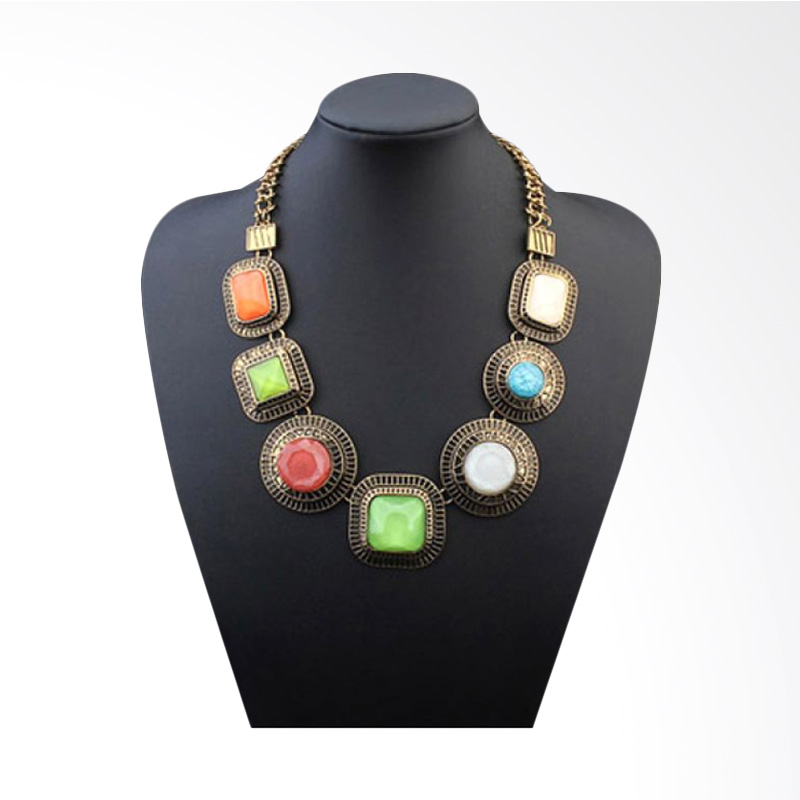 Fashionista Korea Retro Gemstone Geometrical KN54830 Antique Kalung