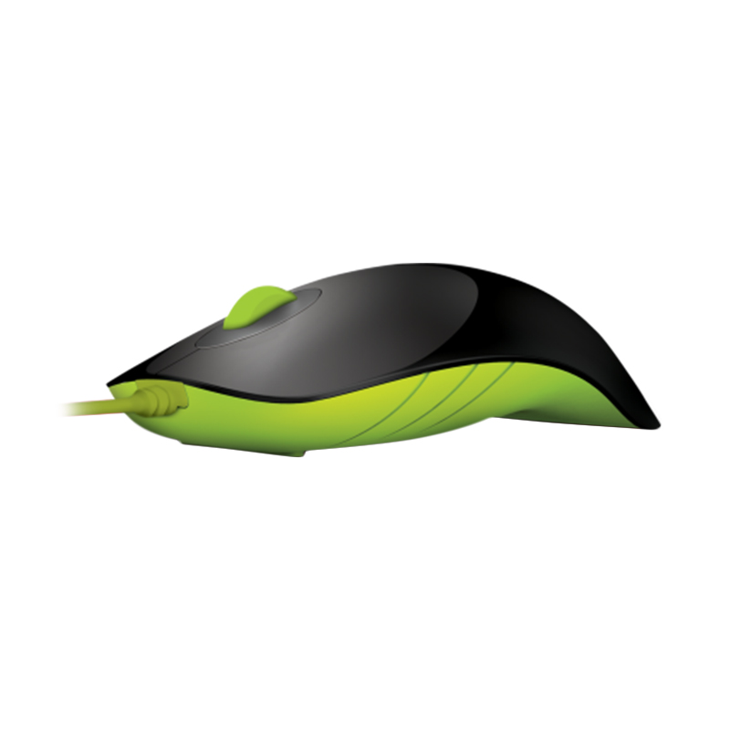 Powerlogic Shark Black Green Mouse USB