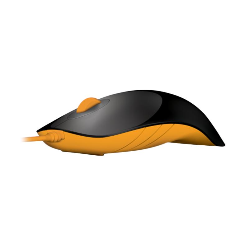 Powerlogic Shark Black Orange Mouse USB