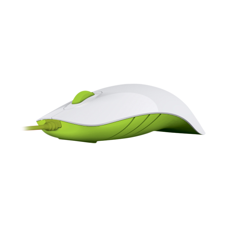 Powerlogic Shark White Green Mouse USB