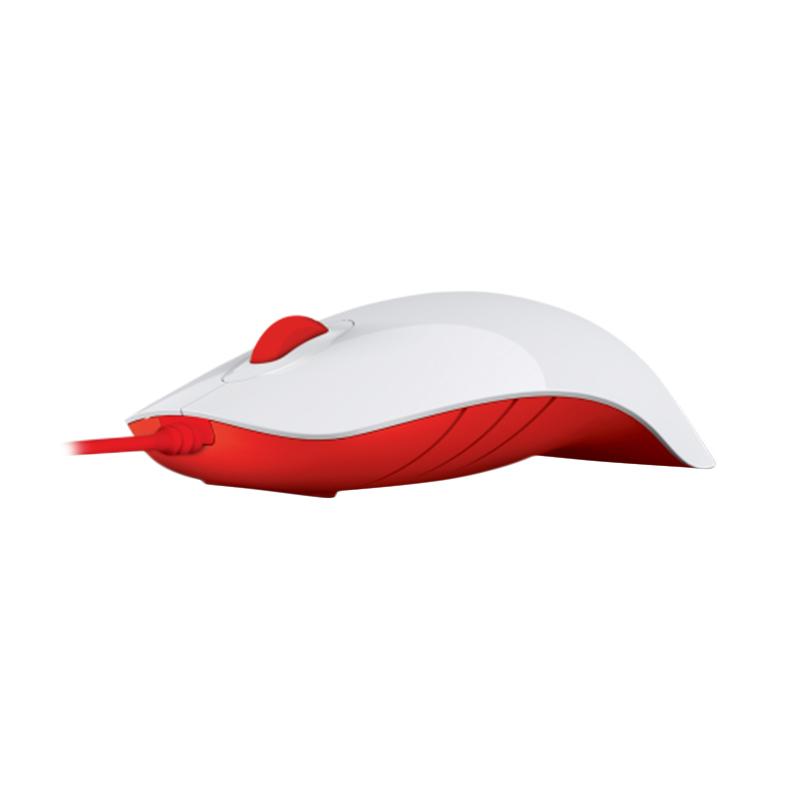 Powerlogic Shark White Red Mouse USB