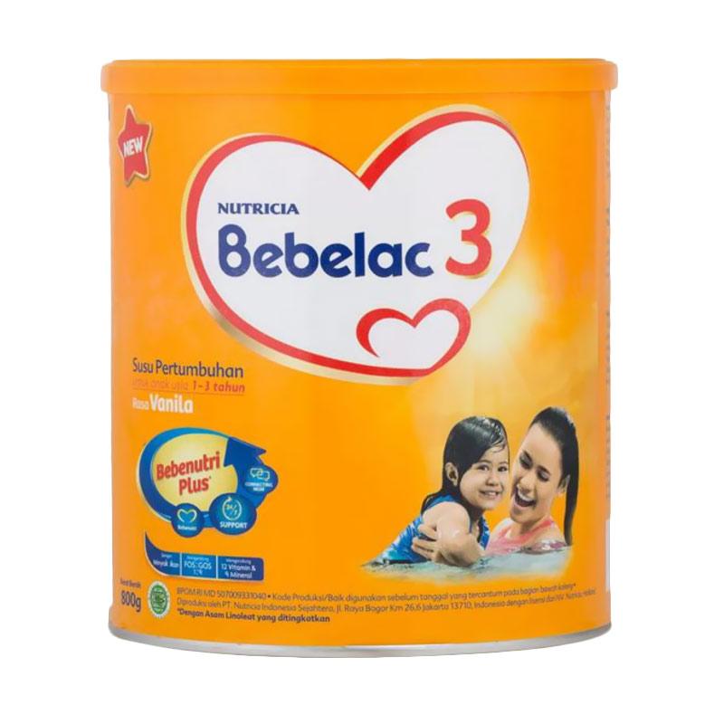 Nutricia Bebelac 3 Vanila Susu Pertumbuhan [800gr]