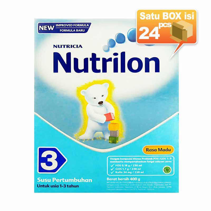 Nutrilon 3 Madu 400gr Box Susu Formula [24pcs/karton]