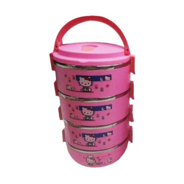 NX Lunch Box Hello Kitty Pink Rantang [4 Susun]