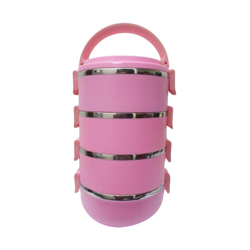 NX Rantang Lunch Box Pink [4 Susun]