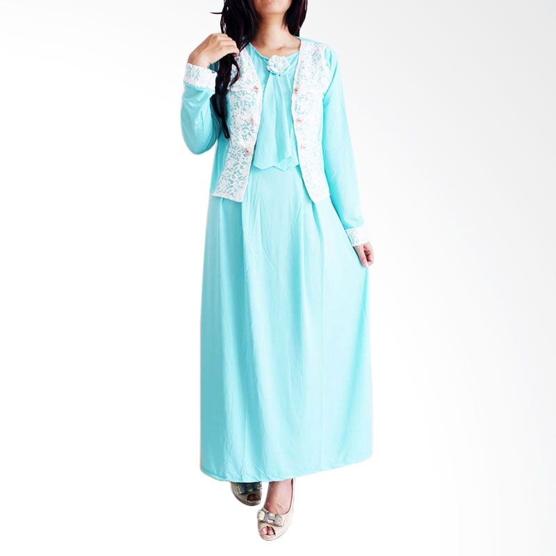 Ofashion Lace Arobah OF-AX3072 Toska Gamis
