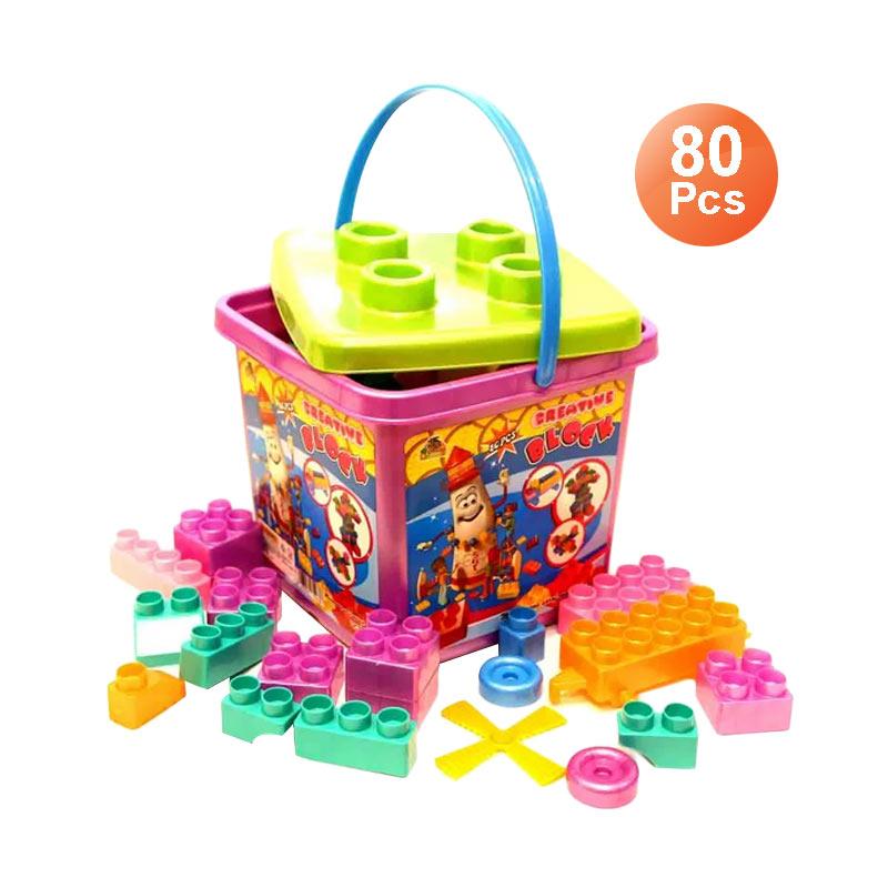 harga Ocean Toy Block Creative OCT9804 Multicolor Mainan Edukasi Anak [80 Pcs] Blibli.