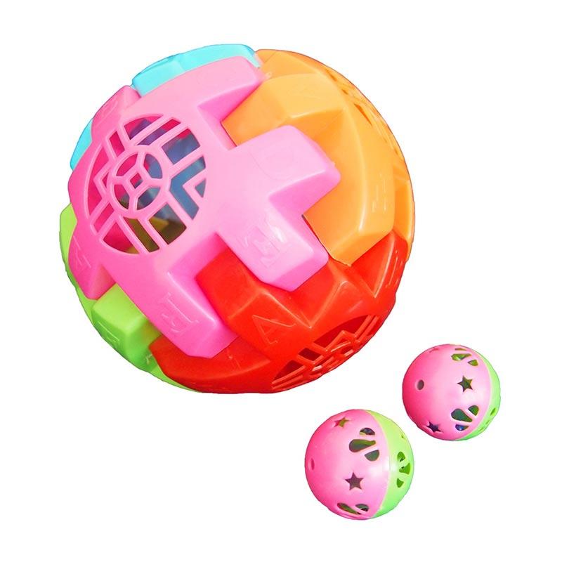 Ocean Toy OCT3009 Bola Jaring Kerincingan Mainan Anak - Multicolor