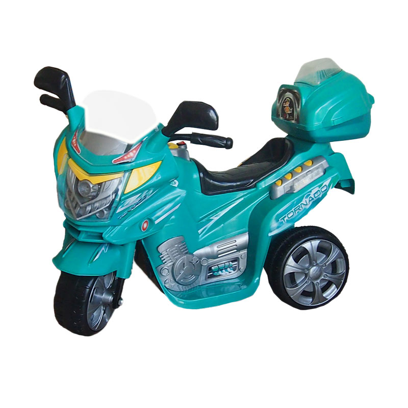 harga Ocean Toy Ride On Motor Aki Tornado - Hijau - Mainan Anak - Pulau Jawa Only Blibli.com