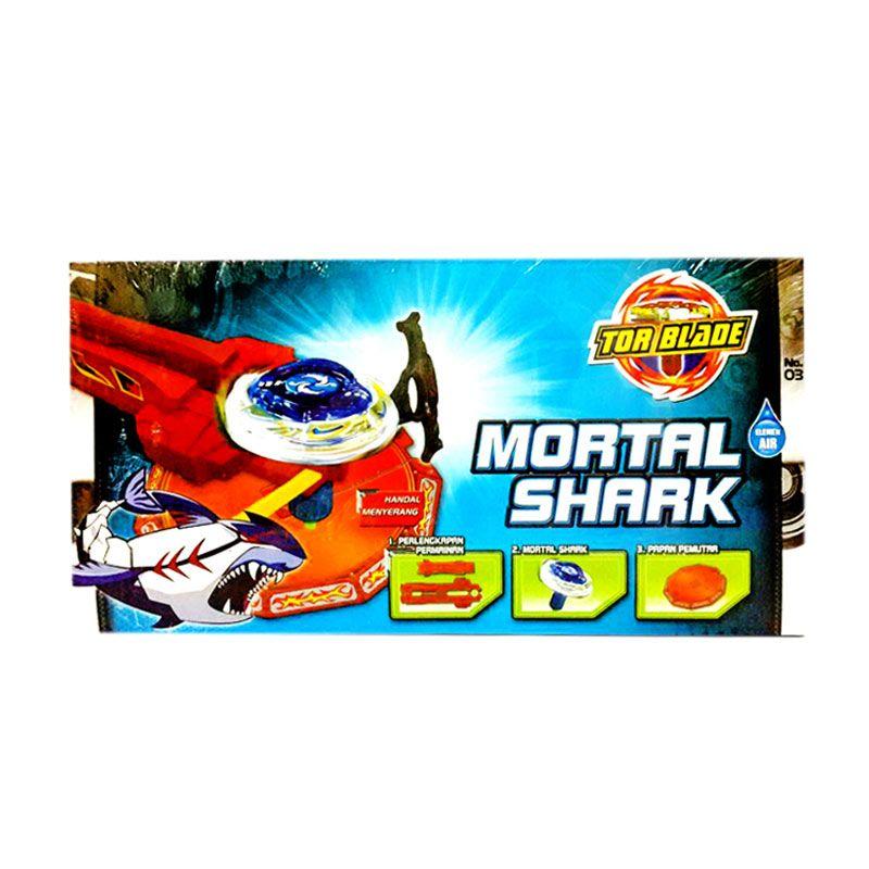 Tor Blade Starter Kit Mortal Shark Gasing Petarung Mainan Anak