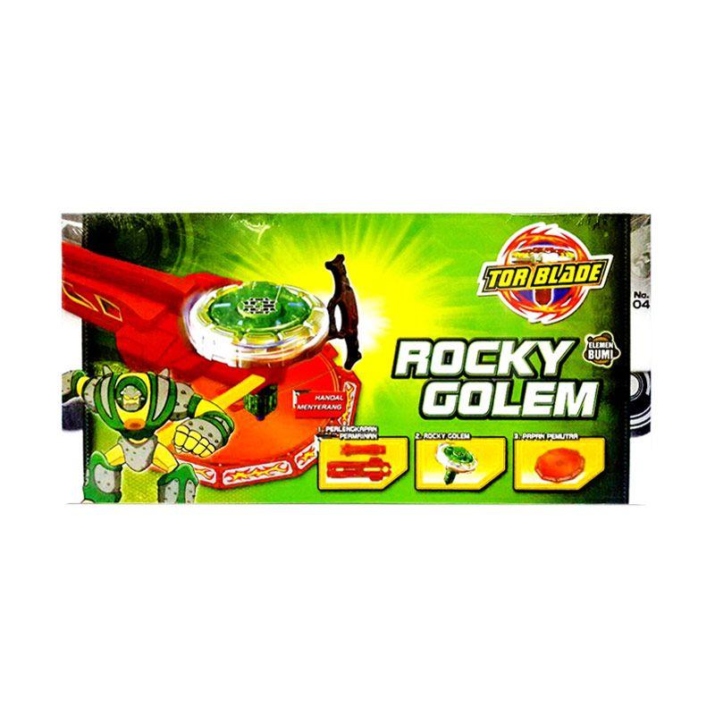 Tor Blade Starter Kit Rocky Golem Gasing Petarung Mainan Anak