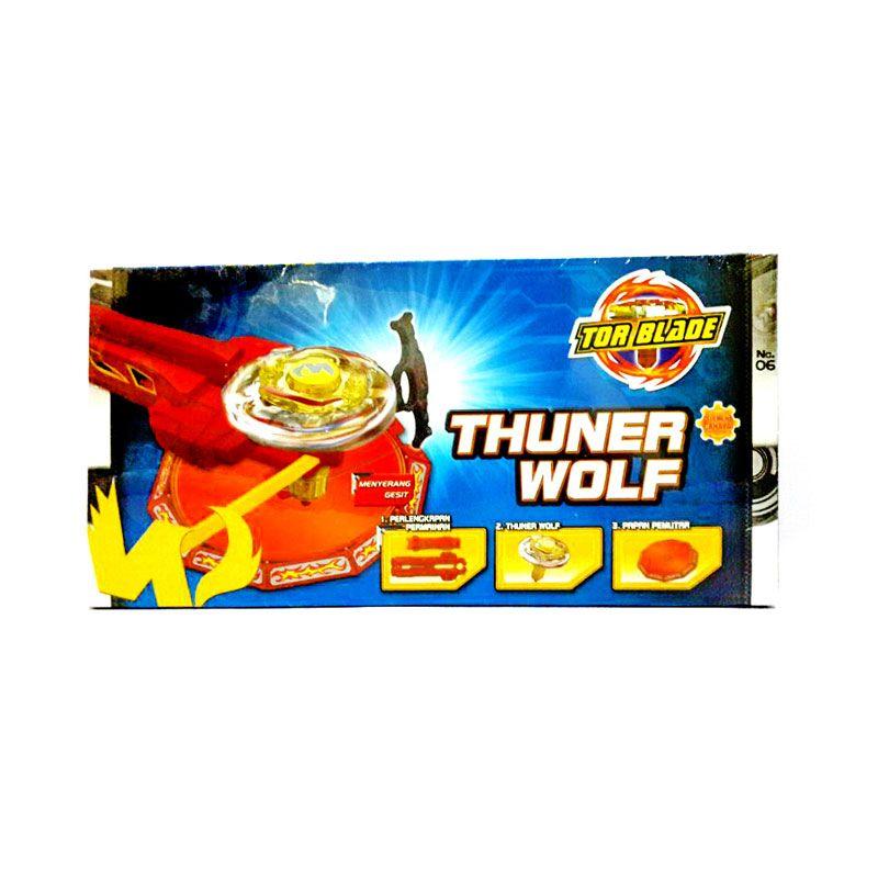 Tor Blade Starter Kit Thuner Wolf Gasing Petarung Mainan Anak